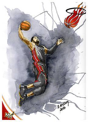 Slam Dunk Poster by Bill McClurg