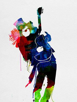 Slash Watercolor Poster by Naxart Studio