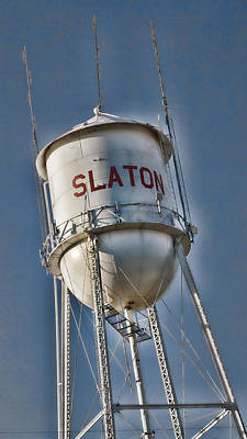 Slaton Water Tower Poster by Stephen Stookey