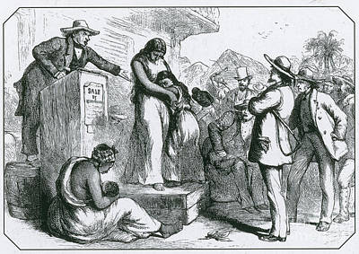 Slave Auction Poster by Photo Researchers