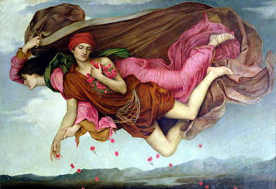 Sleep And Night Poster by Evelyn de Morgan