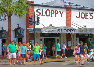 Sloppy Joe's Poster by Judy Kay