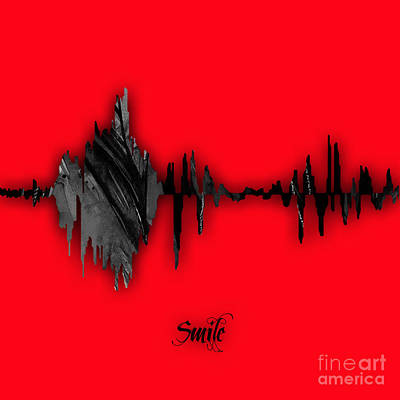 Smile Sound Wave Poster by Marvin Blaine