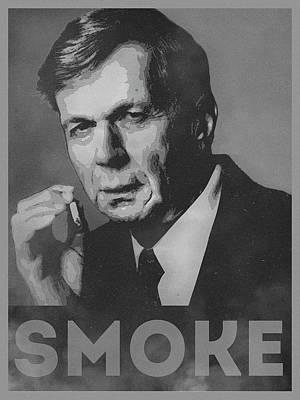 Smoke Funny Obama Hope Parody Smoking Man Poster by Philipp Rietz