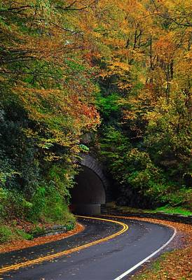 Smokey Mountain Tunnel Poster by Dennis Nelson