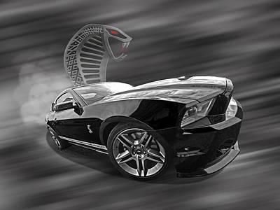 Smokin' Cobra - Shelby Gt 500 Poster by Gill Billington