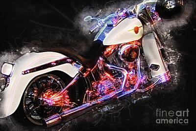 Smoking Hot Hog Harley Davidson 20161102 Poster by Wingsdomain Art and Photography