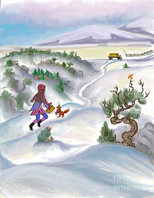 Snow Tang - Story Illustration 5 - Age 12 Poster by Dawn Senior-Trask