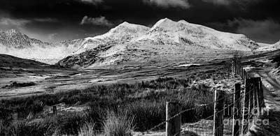 Snowdon Winter Poster by Adrian Evans