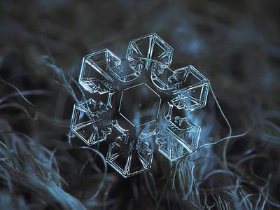 Snowflake Photo - The Core Poster by Alexey Kljatov