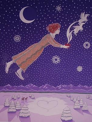 Snowflight Poster by Karen MacKenzie