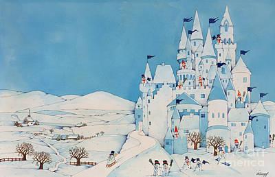 Snowman Castle Poster by Christian Kaempf