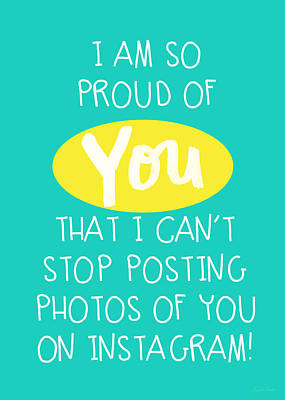 So Proud Of You- Blue Poster by Linda Woods