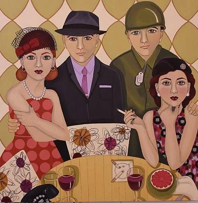 So We Meet Again Poster by Stephanie Cohen