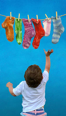 Sock Options W_grandson Poster by Will Bullas