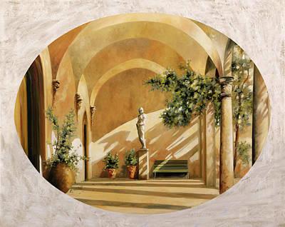 Sole Tra Gli Archi Poster by Guido Borelli