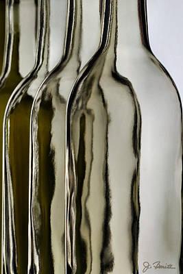 Somber Bottles Poster by Joe Bonita