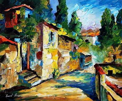 Somewhere In Israel - Palette Knife Oil Painting On Canvas By Leonid Afremov Poster by Leonid Afremov