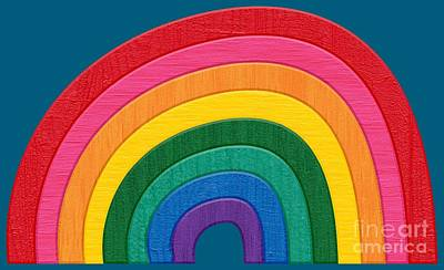 Somewhere Over The Rainbow Poster by Marisa Lerin