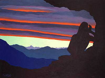 Song At Sunset - Milarepa Poster by Losang Gyatso