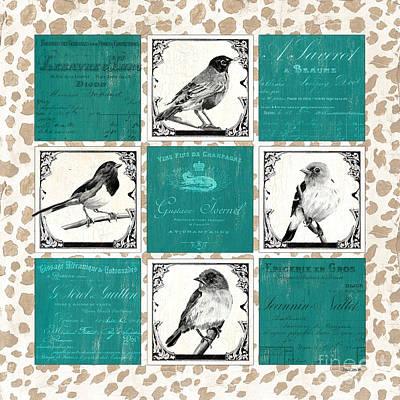 Songbird Cheetah Patch Poster by Debbie DeWitt