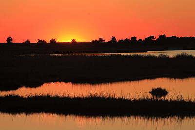 South Cape Beach Marshes At Sunset Poster by John Burk