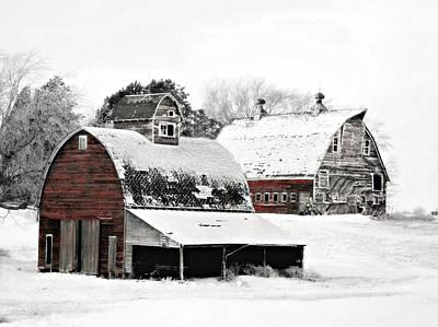 South Dakota Farm Poster by Julie Hamilton
