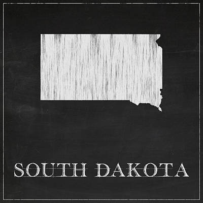 South Dakota Map Poster by Finlay McNevin