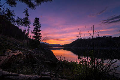 South Shore Lake Dillon Sunset Poster by Michael J Bauer