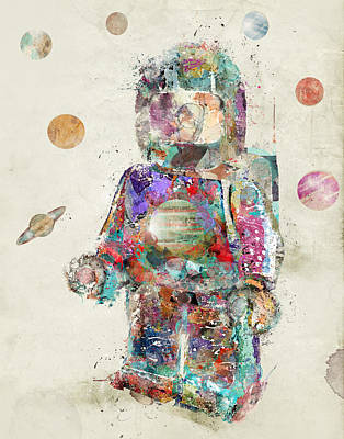 Spaceman Mini Figure Poster by Bri B