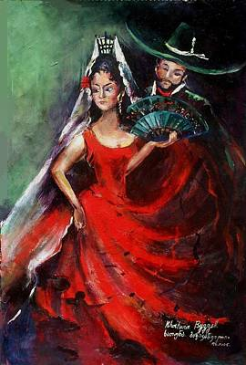 Spanish Dancers Poster by Khatuna Buzzell