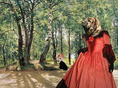 Spanish Mastiff - Mastin Espanol Art Canvas Print Poster by Sandra Sij