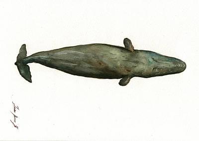 Sperm Whale Sleeping Poster by Juan Bosco