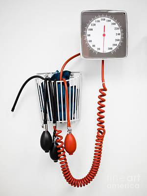 Sphygmomanometer Blood Pressure Gauge In A Doctor's Office Poster by Paul Velgos
