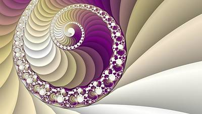 Spiral Fractal Art Poster by Marina Likholat
