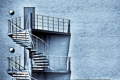 Spiral Stairs Poster by Tom Gowanlock