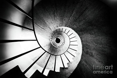 Spiraling Up Poster by George Oze