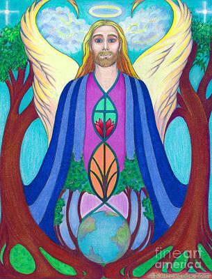 Spirit Guide Sananda Poster by Debra A Hitchcock