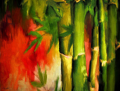 Spirit Of Summer- Bamboo Artwork Poster by Lourry Legarde