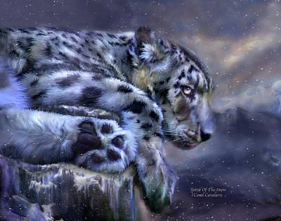 Spirit Of The Snow Poster by Carol Cavalaris