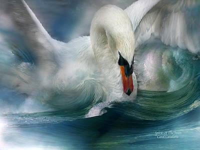 Spirit Of The Swan Poster by Carol Cavalaris