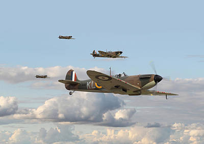 Spitfire - 54 Squadron Poster by Pat Speirs