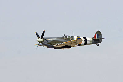 Spitfire In Flight Poster by Shoal Hollingsworth