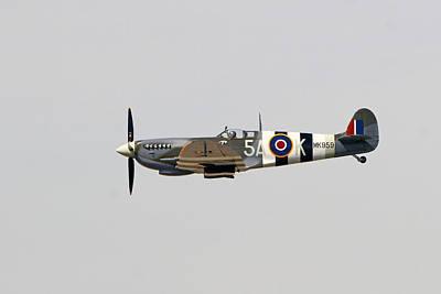 Spitfire Mk959 In Flight Poster by Shoal Hollingsworth