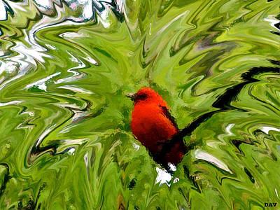Splash Of Red Poster by Debra     Vatalaro