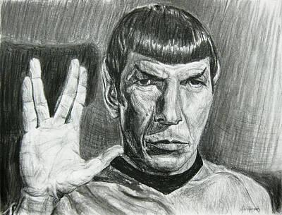 Spock Poster by Michael Morgan