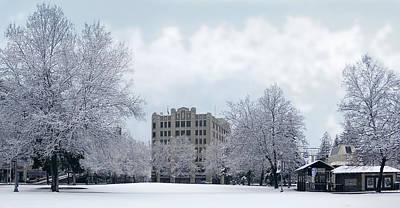 Spokane City Hall In Winter Poster by Daniel Hagerman