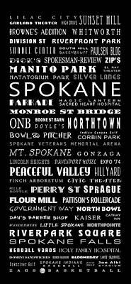 Spokane Washington Bus Roll Poster by Daniel Hagerman