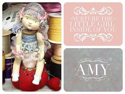 Spool Doll Image - Amy Poster by Monica Guerrero