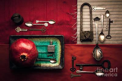 Spoons, Locks And Keys Poster by Ana V Ramirez